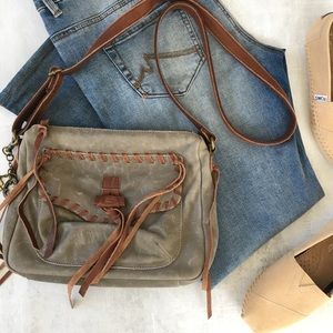 🍀 Lucky Brand 🍀 Distress Crossbody Bag